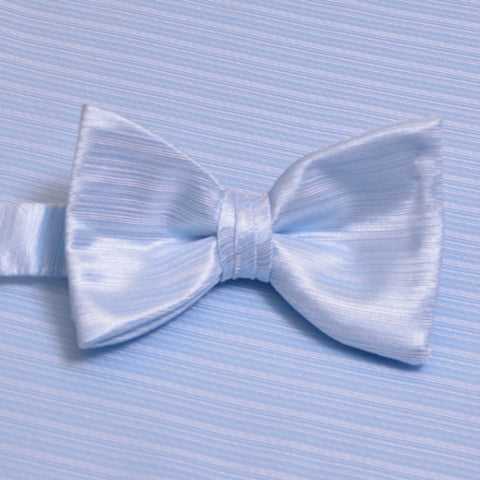 Light Blue Horizontal Bow Tie with Pocket Square