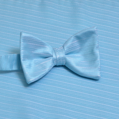 Turquoise Horizontal Bow Tie with Matching Pocket Square