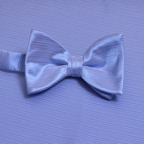 Cornflower Horizontal Bow Tie with Matching Pocket Square