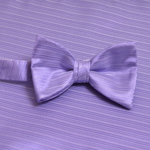 Lavender Horizontal Bow Tie with Matching Pocket Square
