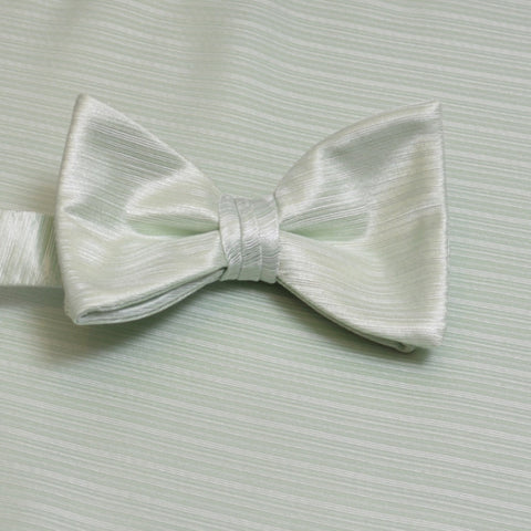 Pistachio Horizontal Bow Tie with Pocket Square
