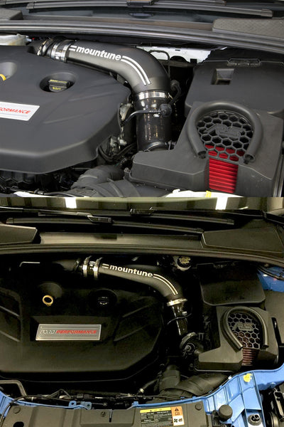 The mountune High Flow Induction Kit for the Ford Focus RS has an 11% improvement in airflow flow.