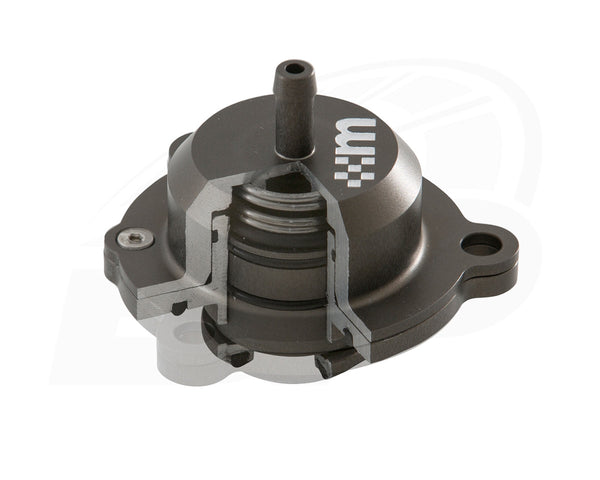 The mountune Uprated Air Recirculation Valve for the Ford Focus RS has a superior piston design.