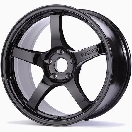 Gram Lights 57CR Gloss Black 18X9.5 5x114.3 38mm