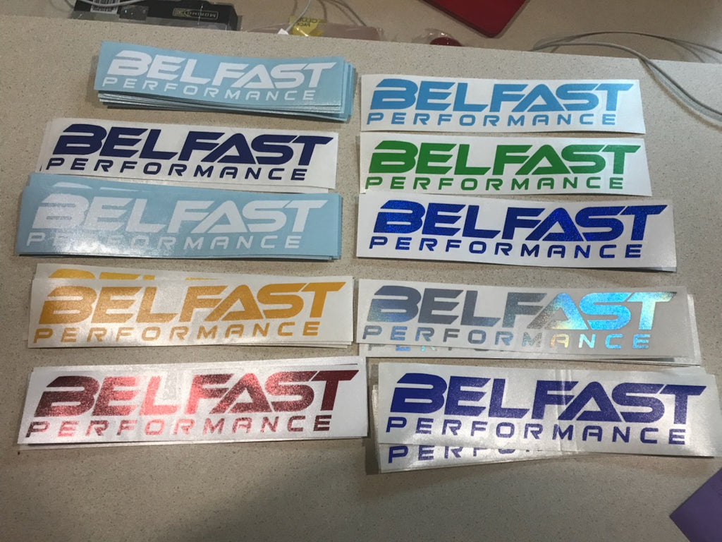 "Belfast Performance Decals 9""x1.75"""
