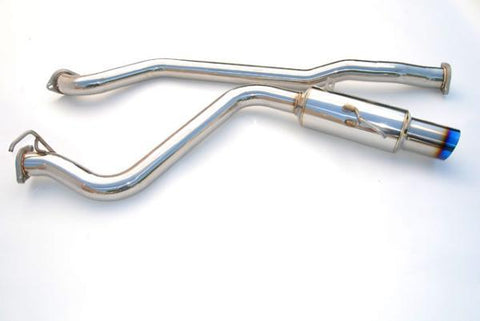 Invidia Titanium Tip Racing Cat Back Exhaust Single Exit - Subaru WRX Sedan 2008-2014 / STI Sedan 2011-2014