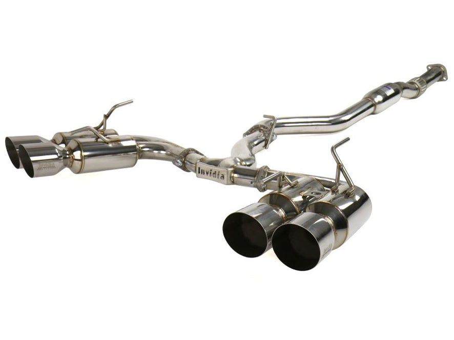Invidia R400 Gemini Cat-Back Exhaust w/ Stainless Steel Tips - Subaru WRX / STI Hatchback 2008-2014