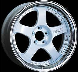 SSR SP1 White 18x9.5 5x114.3 +30mm