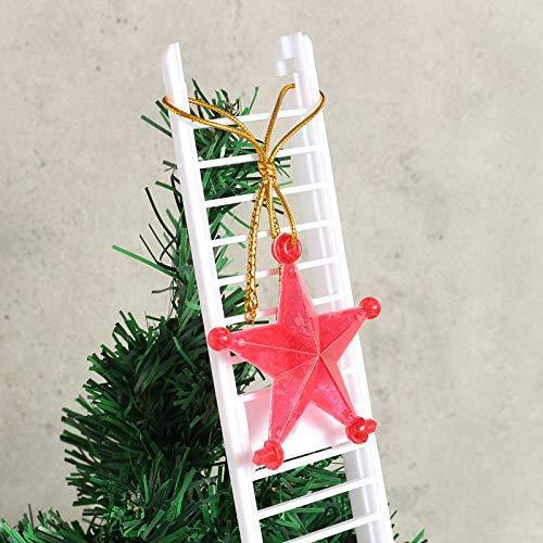Howardee 1 Pcs Electric Climbing Ladder Santa Claus Christmas Figurine Ornament Decoration Gifts