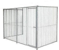 doghealth 3 sided Kennel Run Galvanised - 5cm gap 1.5m x 2m (with door)