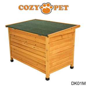 Cozy Pet Insulated Wooden Dog Kennel Medium With Removable Floor