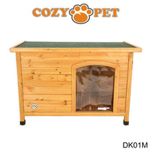 Load image into Gallery viewer, Cozy Pet Insulated Wooden Dog Kennel Medium With Removable Floor