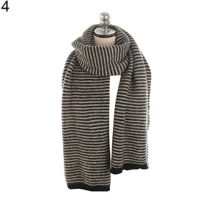 Women Solid Color Scarf Elegant Warm Autumn Winter Shawl Neckerchief Gift - TheUwatch