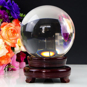 Unique Transparent Glass Ball Sphere Home Office Decoration Feng Shui Ornament - TheUwatch