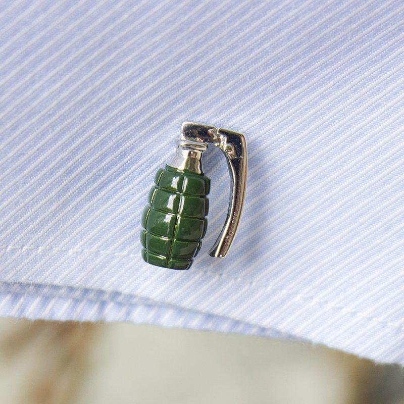 Grenade Cufflinks - TheUwatch