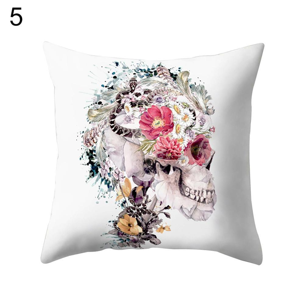 Unique Skull Style Pillow Case Bed Waist Cushion Cover Cafe Home Decor Gift - TheUwatch