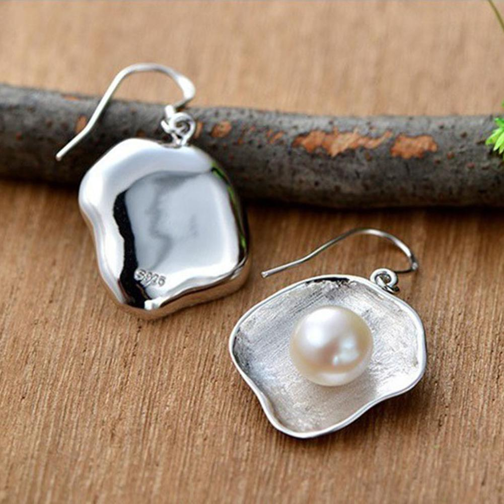 Vintage Faux Pearl Shell Pendant Hook Earrings Women Gift Banquet Ear Jewelry - TheUwatch