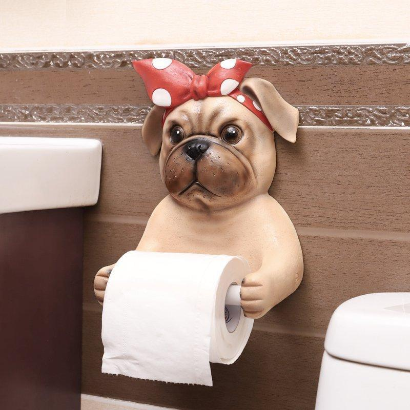 Bulldog Toilet Paper Cover Holder - TheUwatch