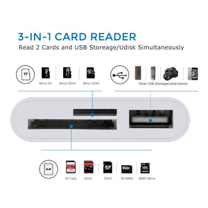 SD Card Reader  Compatible with iPhone And iPad - TheUwatch