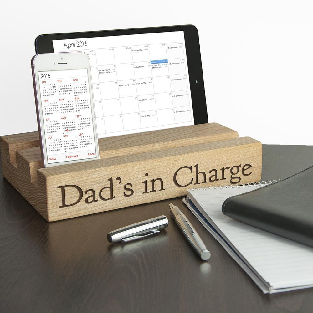 Personalised Double Office Desk Tablet Holder - TheUwatch