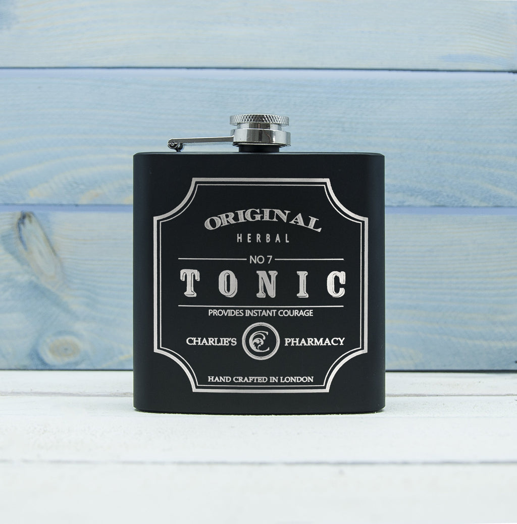Personalised Tonic Vintage Hip Flask - TheUwatch