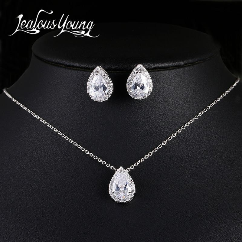 Nigerian Water Drop Wedding Jewelry Set - TheUwatch