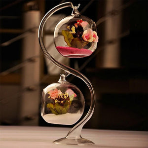 Transparent Glass Round Hanging Vase - TheUwatch