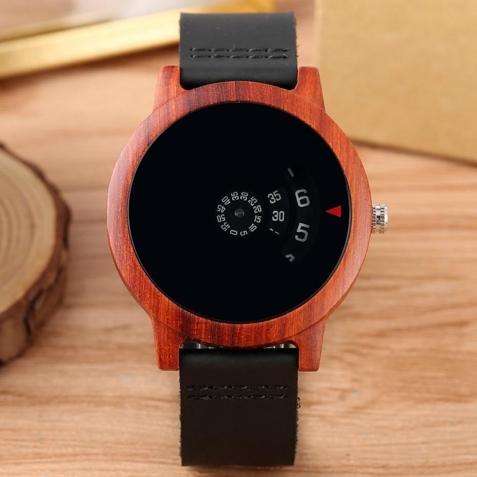 Minimalist Turntable Wood Watch - TheUwatch