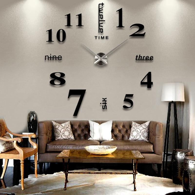 Decoration big mirror wall clock - TheUwatch