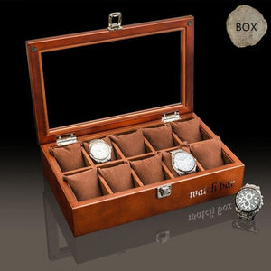 Wooden Watch Storage Box Case - TheUwatch