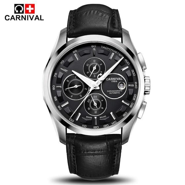 CARNIVAL Leather Strap Watch - TheUwatch