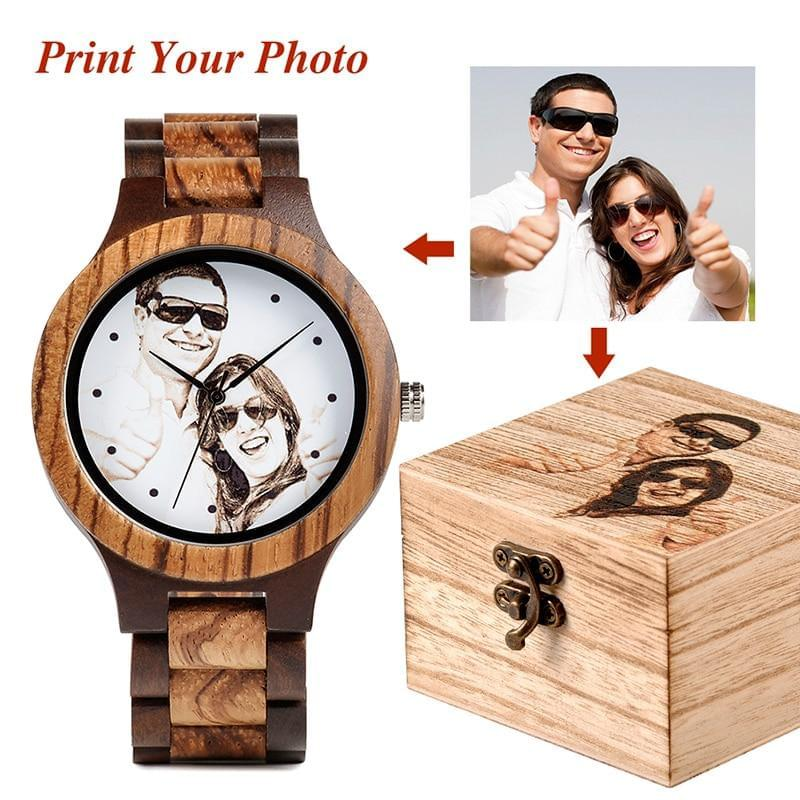Bamboo Wood Wristwatch - Custom Logo - TheUwatch