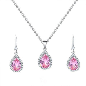 Manxiuni Water Drop Wedding Jewelry Set - TheUwatch