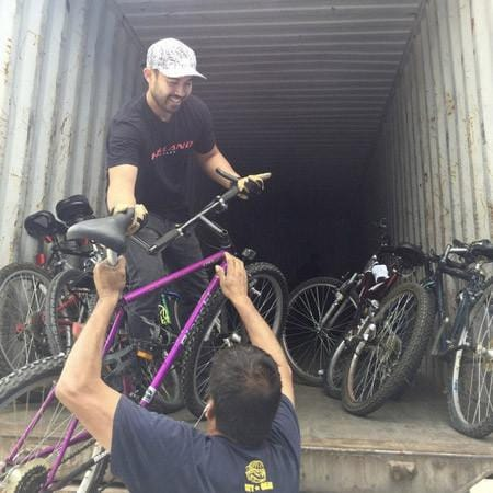 Another container of donated bikes from San Diego!