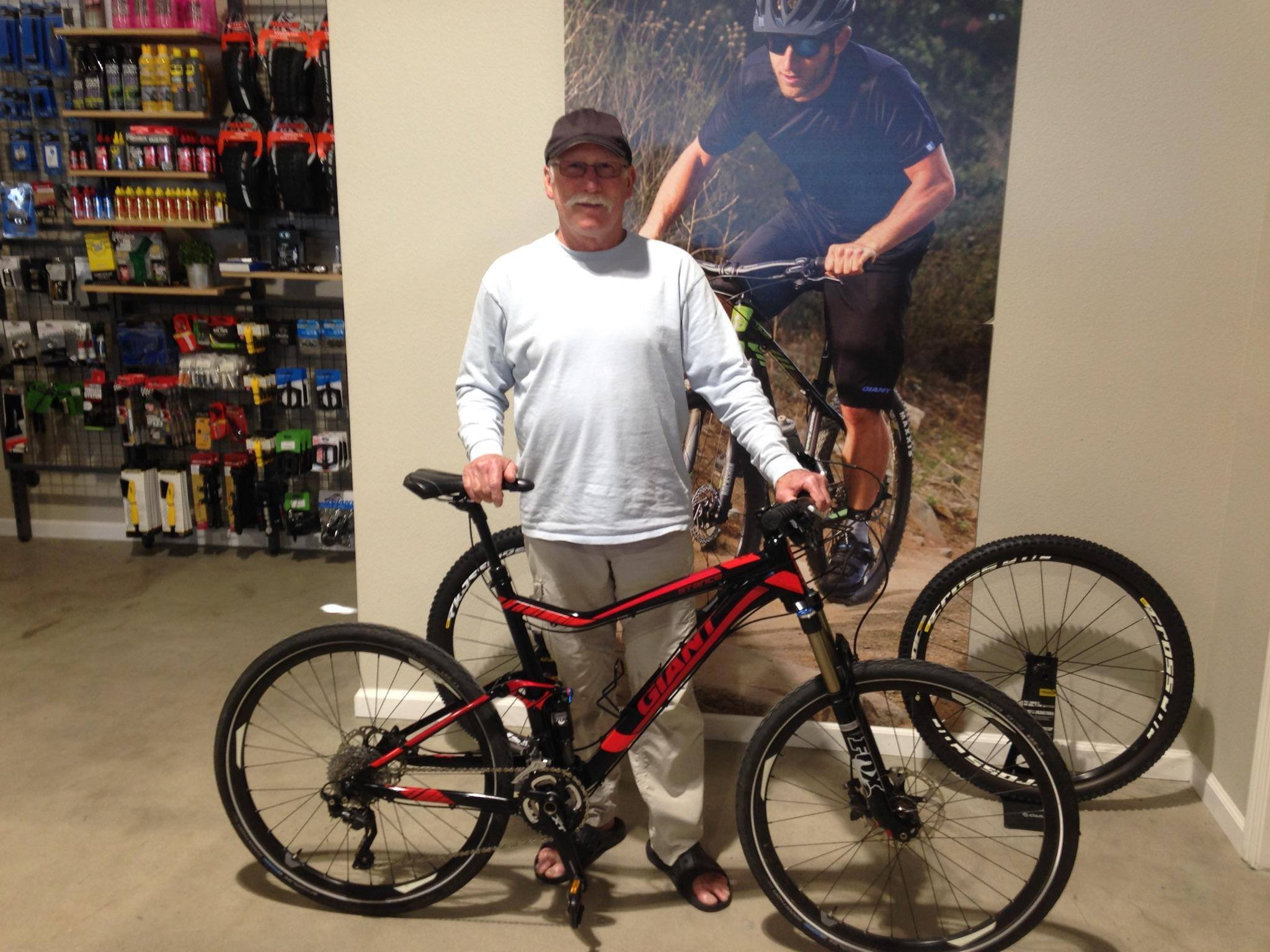David with his 2015 Giant Stance 0