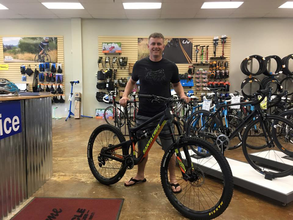 Brian and his new Santa Cruz Nomad