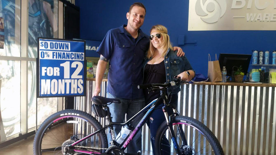 Elisa got her new Liv Tempt 4 at our Temecula store she's ready to ride the Inland Empire trails. Have fun