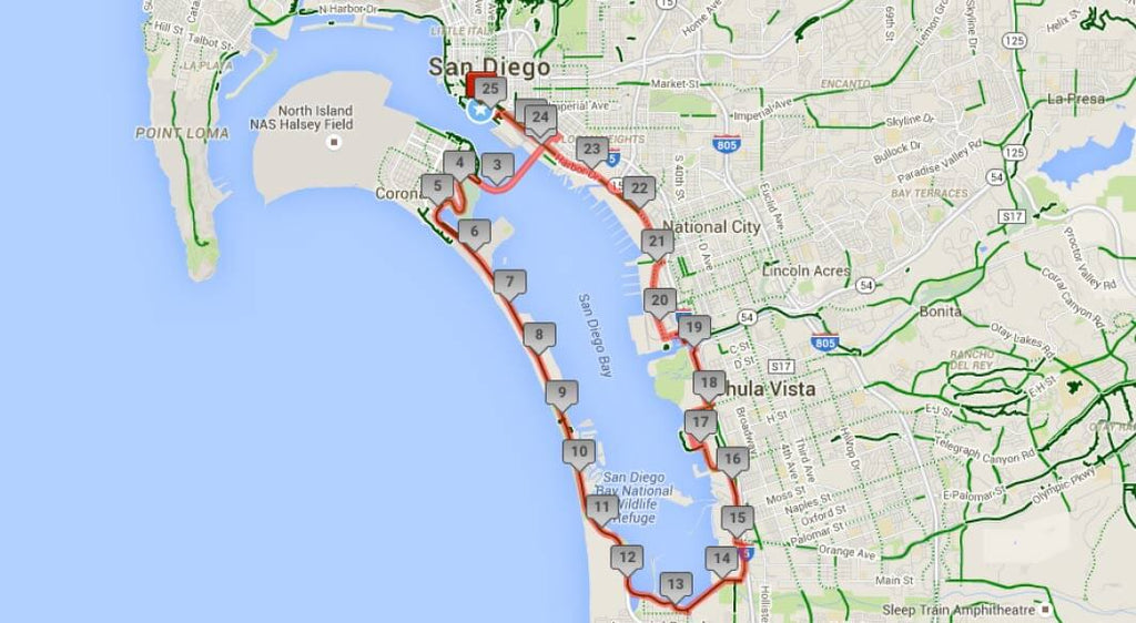 Bike the Bay Route