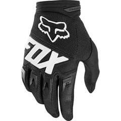 FOX DIRTPAW GLOVES BLACK WITH WHITE LOGO