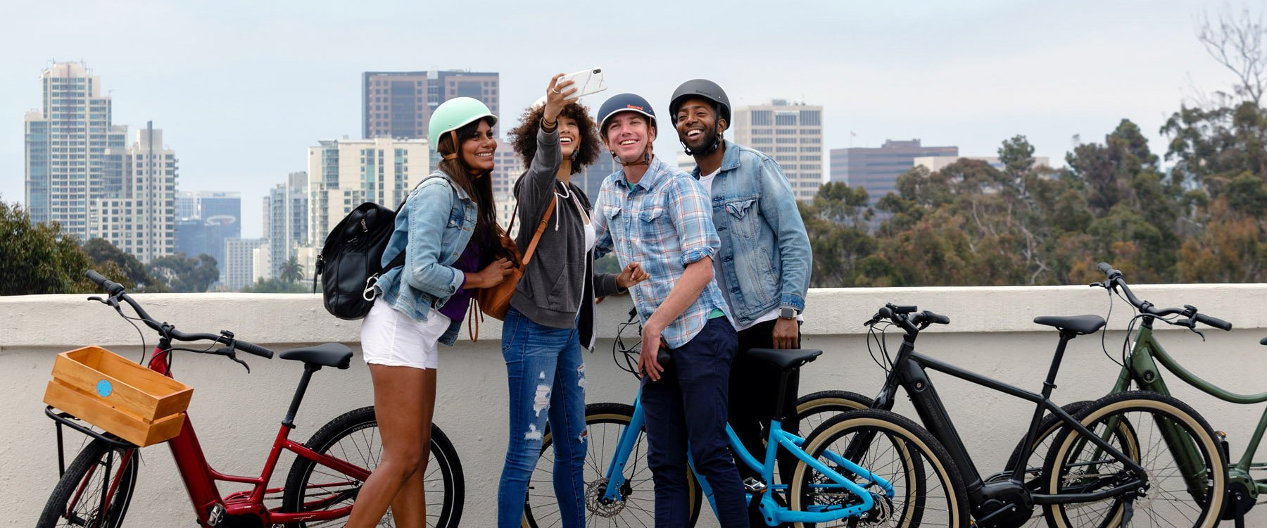 CYCLISTS TAKING A SELFIE