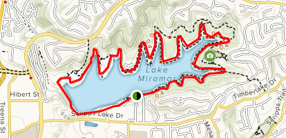 LAKE MIRAMAR GPS MAP