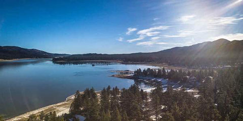BIG BEAR SCENIC VIEW OF LAKE