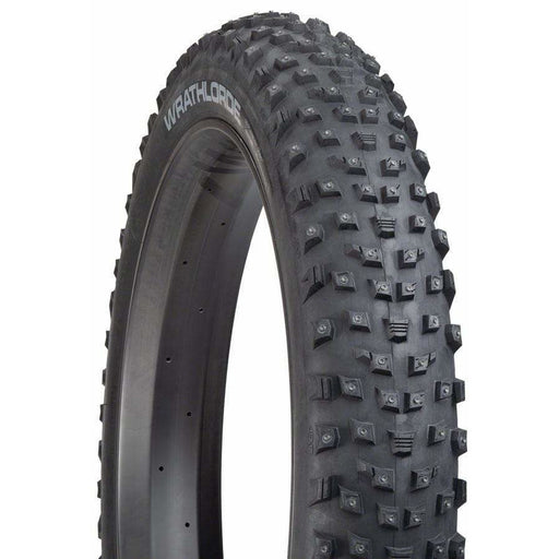 "45NRTH 45NRTH Wrathlorde Tire - 26 x 4.2"", Tubeless, Folding, 120tpi, 300 XL Concave Carbide Aluminum Studs"