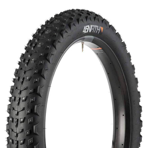 "45NRTH Dillinger 4 Studded Fat Bike Tire: 26 x 4.0"", 240 Steel Carbide Studs, Tubeless Ready Folding 60tpi"