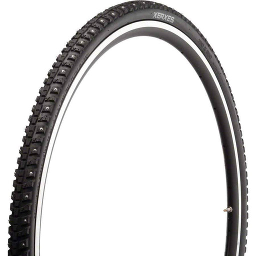 45NRTH Xerxes 700 x 30 Studded Commuter Bike Tire, 140 Steel Carbide Studs, 33tpi, Wire Bead