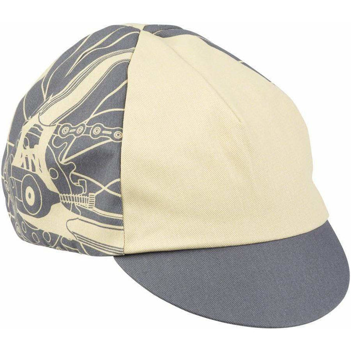 ALL-City Damn Fine Cycling Cap - Gray, Khaki