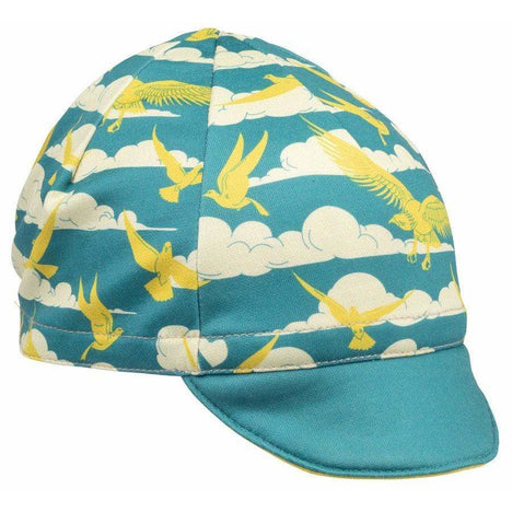 ALL-City Fly High Cycling Cap - Teal, Gold