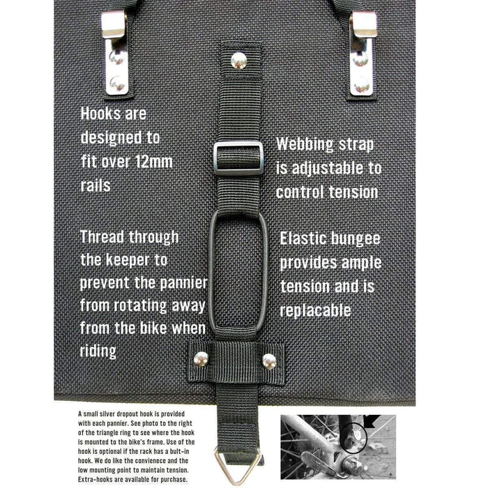 Banjo Brothers Grocery Bike Pannier: Black