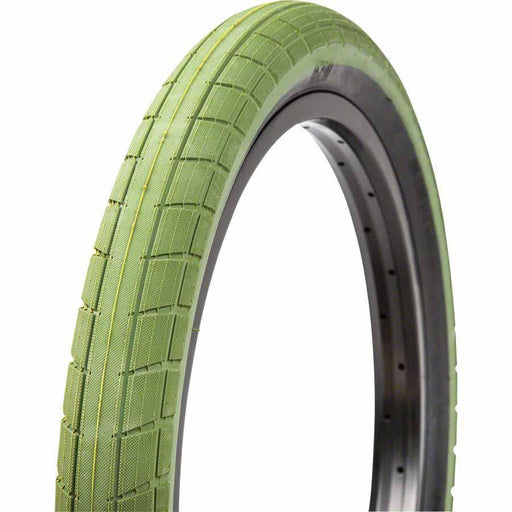 "Donnasqueak Bike Tire 20"" x 2.4"" Surplus Green"