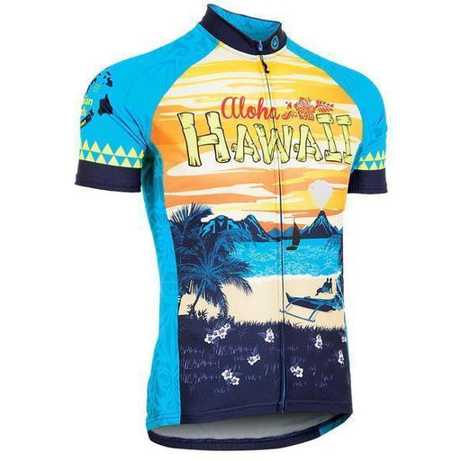 Hawaii Retro Road Bike Jersey Men's